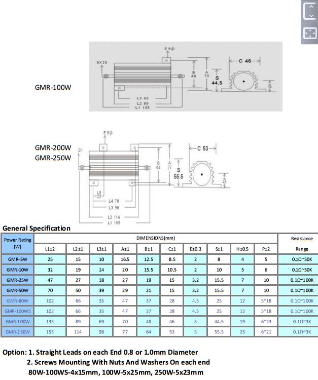 metal clad resistor datasheet 2