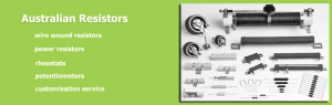 Australian Resistor Manufacturing Update October 2015